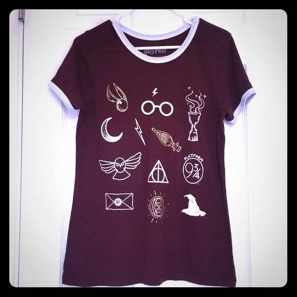 196f5afbc Warner Bros. Tops   Harry Potter Graphic Girls Tshirt Size L Jr ...